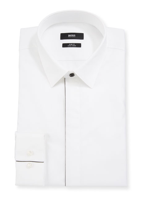 BOSS Men's Slim-Fit Easy Iron Evening Dress Shirt