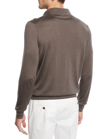 Ermenegildo Zegna Men's Cashmere/Silk Polo Sweater