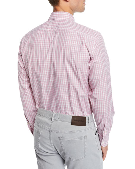 Ermenegildo Zegna Men's Cento Quaranta Check Cotton Sport Shirt