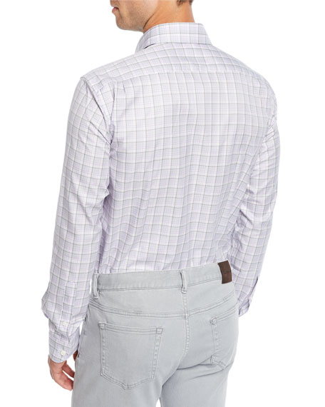 Ermenegildo Zegna Men's Traveler Check Sport Shirt