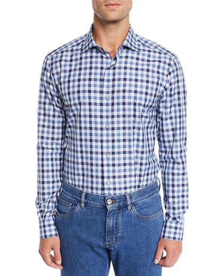 Ermenegildo Zegna Men's Two-Tone Check Sport Shirt