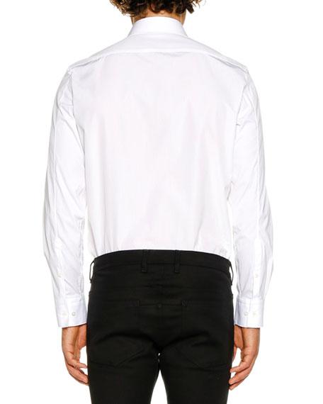 Neil Barrett Men's Scribble Bolt Graphic Long-Sleeve Shirt