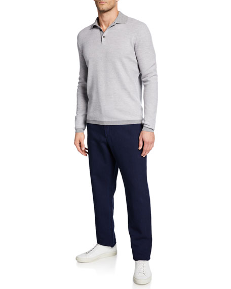 Image 3 of 3: Ermenegildo Zegna Men's Chino Denim Pants