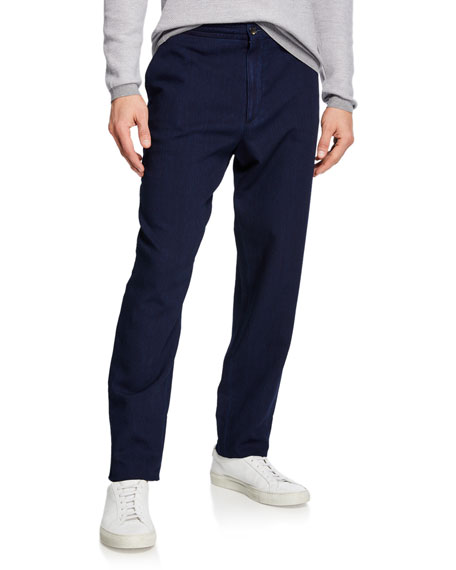 Image 1 of 3: Ermenegildo Zegna Men's Chino Denim Pants