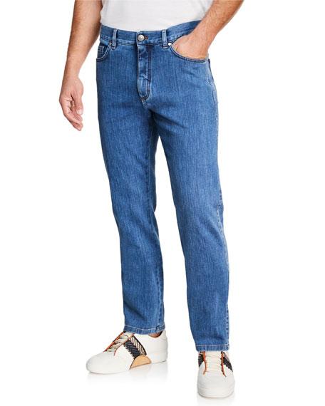 Ermenegildo Zegna Men's Straight-Leg Stretch-Denim Jeans