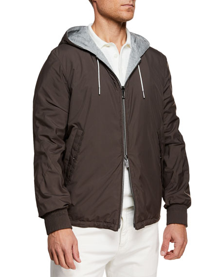 Ermenegildo Zegna Men's Puddy Reversible Wind-Resistant Jacket