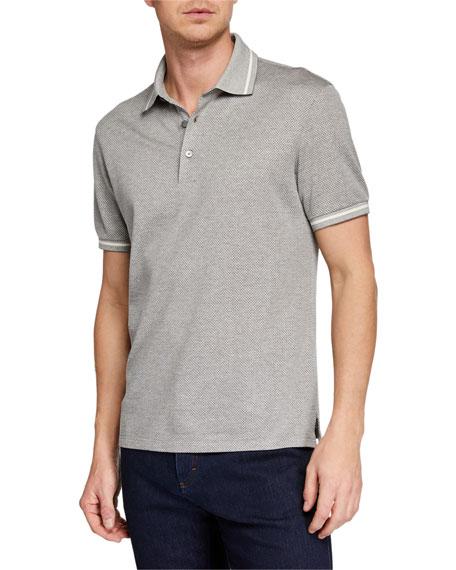 Ermenegildo Zegna Knits Men's Heathered-Knit Polo Shirt