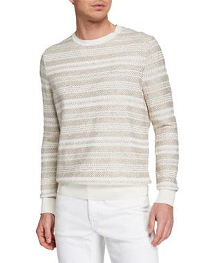 761ddb9e0 Ermenegildo Zegna Men s Striato Striped Crewneck Sweater