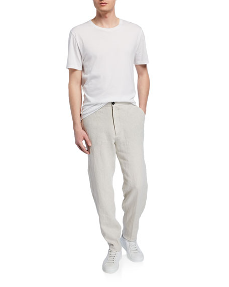 Ermenegildo Zegna Men's Linen Drawstring Pants