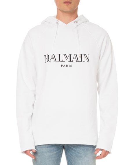 Balmain Men's Logo Graphic Pullover Hoodie