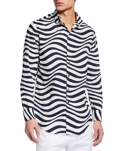 Men's Fancy Print Poplin Shirt