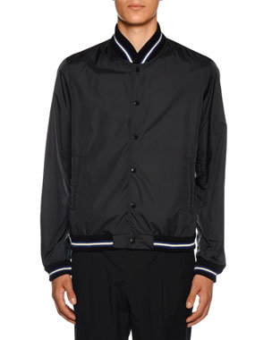 a7a6c91de Moncler Men's Dubost Bomber Jacket with Varsity Stripes. Favorite. Quick  Look