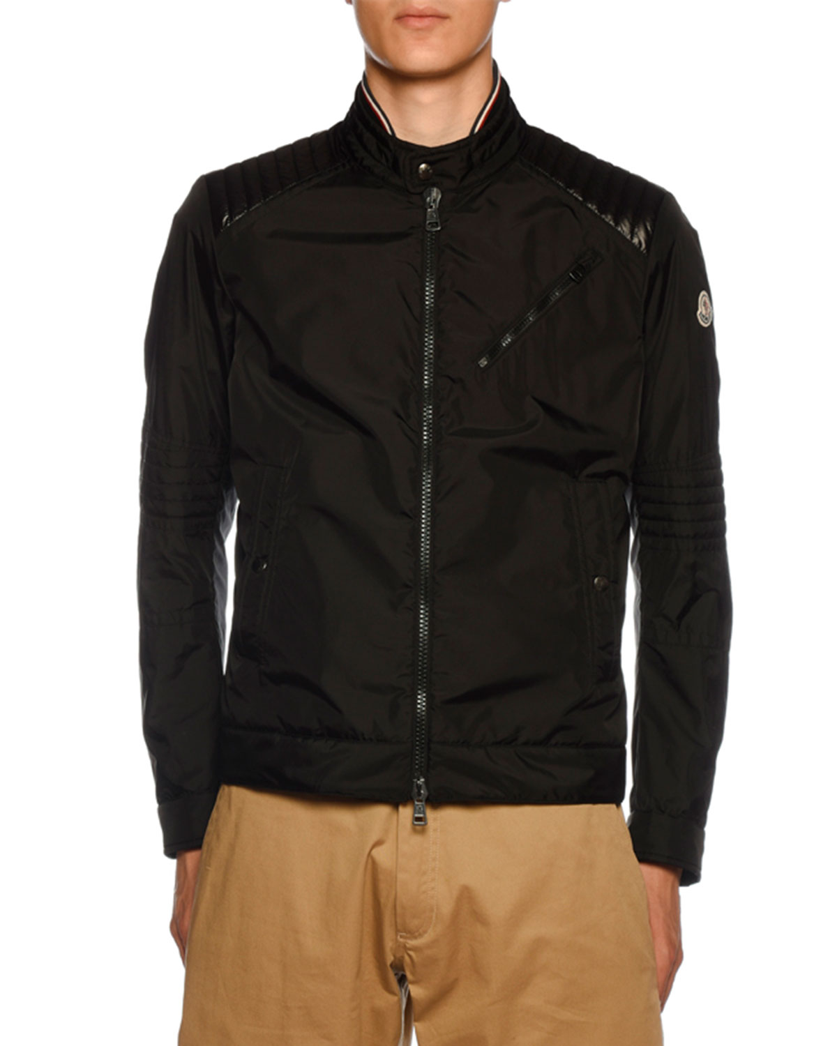 Men's Premont Biker Jacket by Moncler