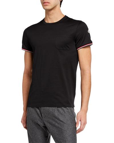 Men's Tricolor-Trim T-Shirt