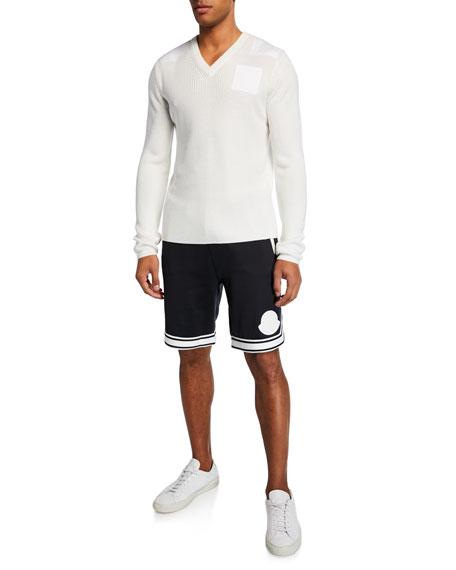 Moncler Men's Contrast-Trim Track Shorts