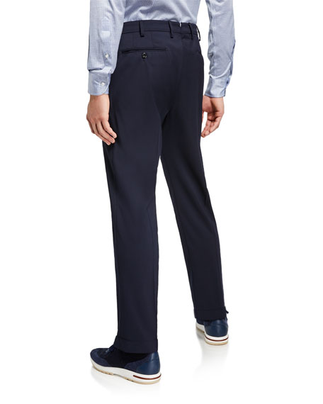 Loro Piana Men's Comfort Flannel Wool Pants