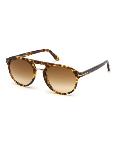 Image 1 of 1: Men's Ivan Round Plastic Sunglasses