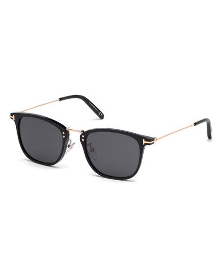 TOM FORD Men's Beau Metal and Plastic Sunglasses