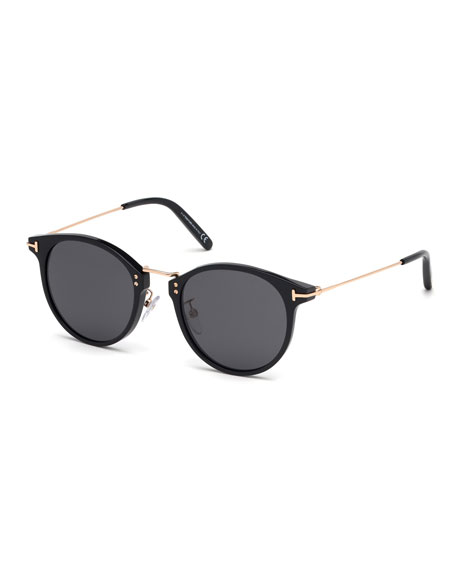 TOM FORD Men's Jamieson Metal and Plastic Sunglasses