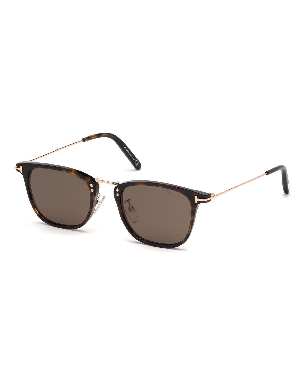 tom ford men 39 s beau metal and plastic sunglasses neiman marcus. Black Bedroom Furniture Sets. Home Design Ideas