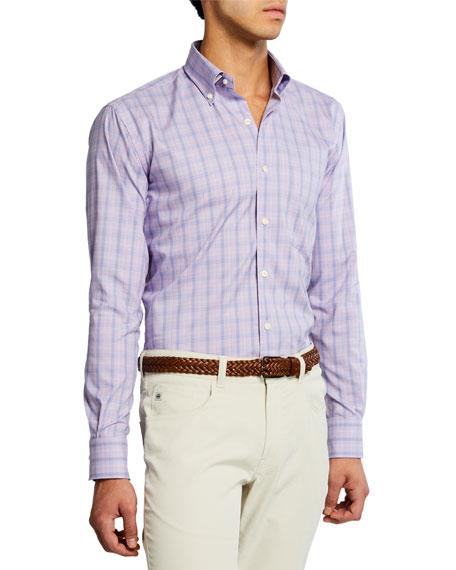 Peter Millar Men's St. George Glen Plaid Shirt