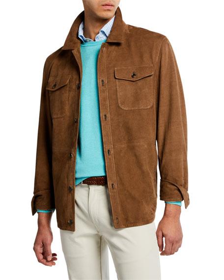 Peter Millar Men's Nubuck Shirt Jacket