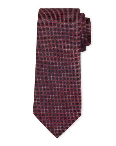 Microdotted Silk Tie