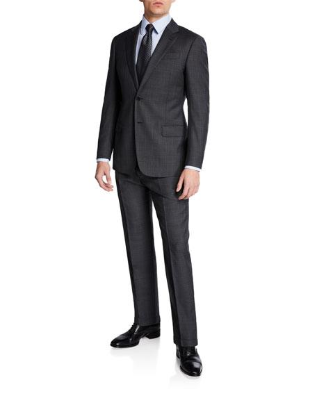 Emporio Armani Men's Super 140s Plaid Two-Piece Suit