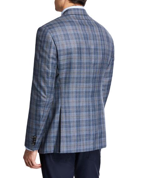 Emporio Armani Men's Earth-Tone Plaid Sport Coat