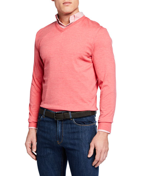 Peter Millar Men's Excursionist Flex V-Neck Sweater