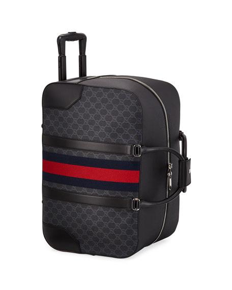 Gucci Men's GG Supreme Rolling Weekender Duffel Carryon Bag