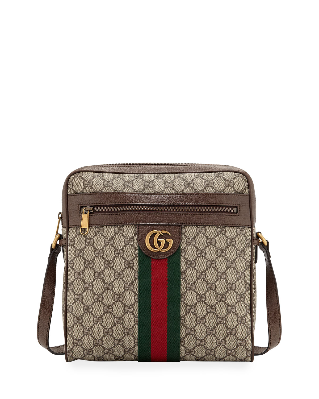 c0e9240e547d Gucci Men's GG Supreme Medium Messenger Bag | Neiman Marcus