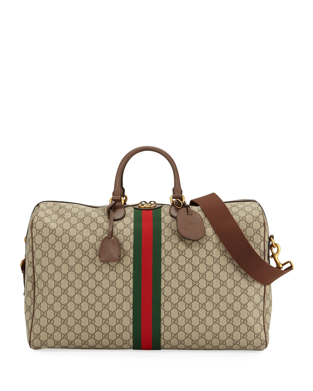 57ef5739021c08 Gucci Men's Ophidia GG Supreme Duffel Bag | Neiman Marcus