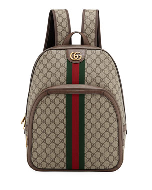 7e58096c2ce Gucci Men s GG Supreme Medium Canvas Backpack