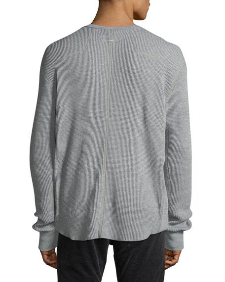 Rag & Bone Men's Waffle-Knit Henley Shirt