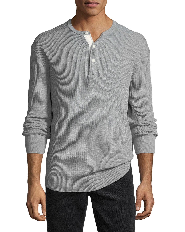 Men's Waffle Knit Henley Shirt by Rag & Bone