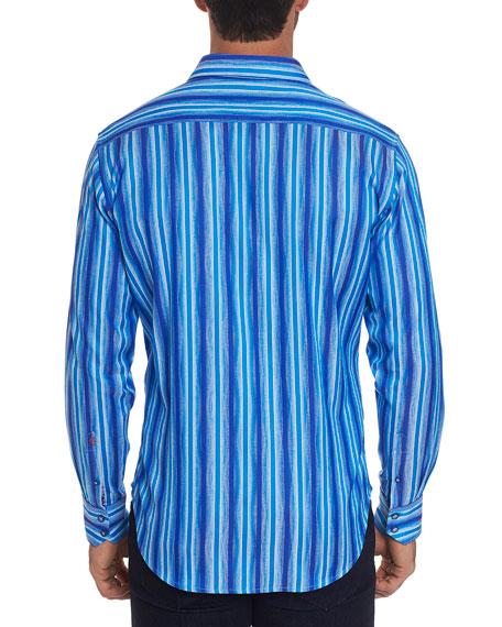 Robert Graham Men's Frances Long-Sleeve Stripe Sport Shirt