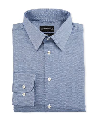Men's Tonal Square Modern-Fit Dress Shirt
