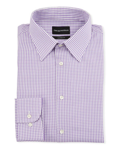 Men's Modern-Fit Tonal Square Dress Shirt