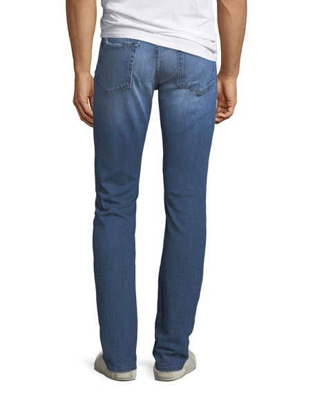 FRAME Men's L'Homme Slim Ripped-Knee Jeans