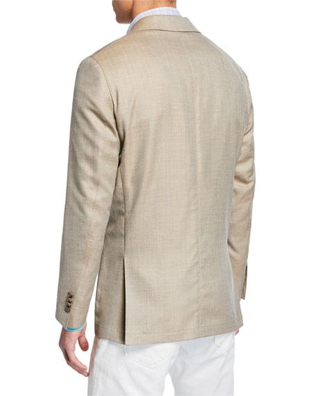 Peter Millar Men's Crown Summer Herringbone Two-Button Jacket