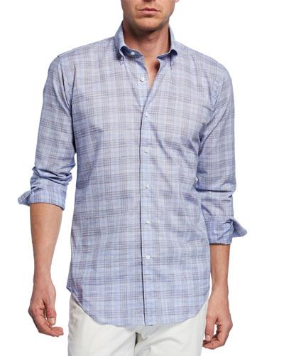 Men's Jozi Plaid Long-Sleeve Shirt