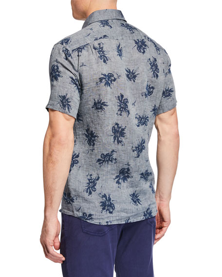 Peter Millar Men's Urban Safari Printed Short-Sleeve Sport Shirt
