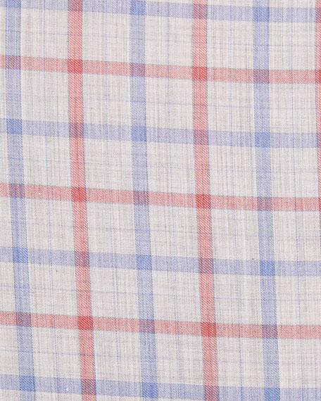 Peter Millar Men's Cradle Check Sport Shirt