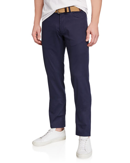 Peter Millar Men's Excursionist Flex Poplin Straight-Leg Trousers