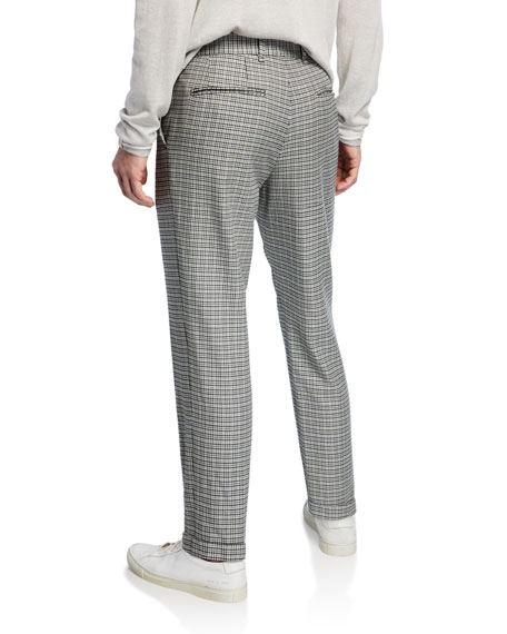 Image 3 of 4: Men's Patrick Plaid Wool/Cotton Pants
