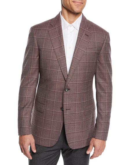 Emporio Armani Men's Tonal Windowpane Sport Coat
