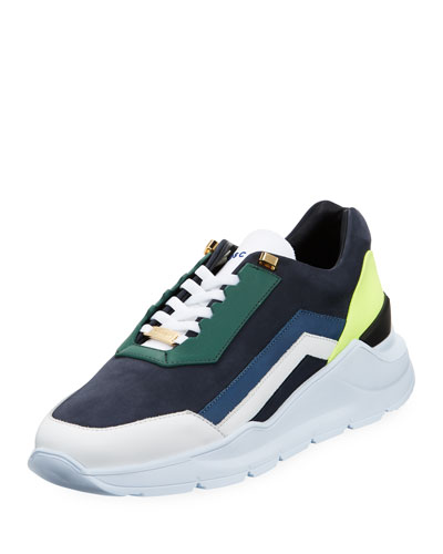 Men's Strada Leather Running Sneakers