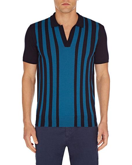 Orlebar Brown Men's Horton Striped Wool Shirt