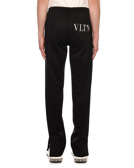 Image 2 of 3: Valentino Men's VLTN Straight-Leg Jersey Track Pants